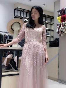 合集女装粉色休闲连衣裙