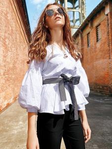欧娅铂女装白色时尚衬衫