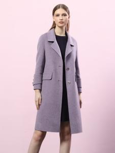 2018艺梦来女装浅紫色双面呢大衣