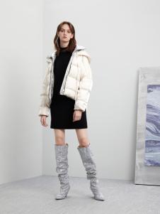 5secs五秒轻潮女装冬装新款白色羽绒服