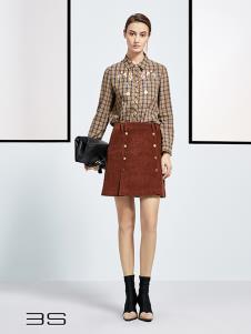 尚艾诗3S女装格子时尚衬衫