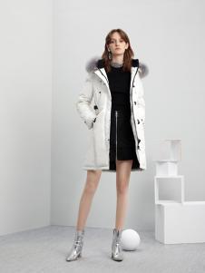 5secs五秒轻潮女装冬装中长款羽绒服