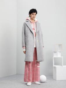 5secs五秒轻潮女装冬装新款呢子大衣