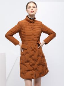 2018艺梦来时尚优雅羽绒服
