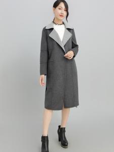 2018雨珊灰色大衣