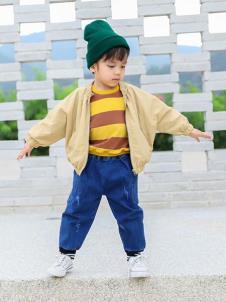 木言汀童装木言汀童装卡其色时尚外套