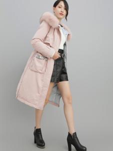 2018雨珊粉色羽绒服