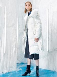 2018伊布都女装白色羽绒服