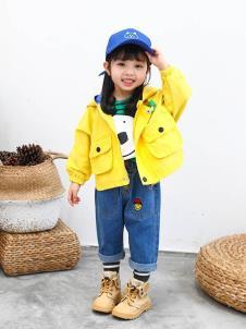 木言汀童装木言汀童装黄色甜美外套