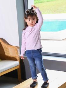 木言汀童装粉色休闲T恤