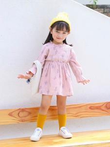 木言汀童装木言汀童装粉色甜美女裙