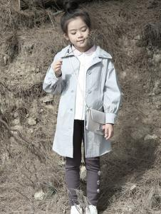 森虎儿童装灰色休闲风衣外套