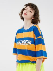 bccd女裝藍黃條紋T恤