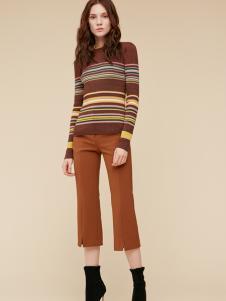 季候风条纹毛衣