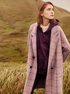 2018季候风女装气质格纹大衣