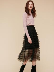 季候风女装黑色半裙