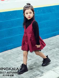 叮卡啦童装红色时尚女裙