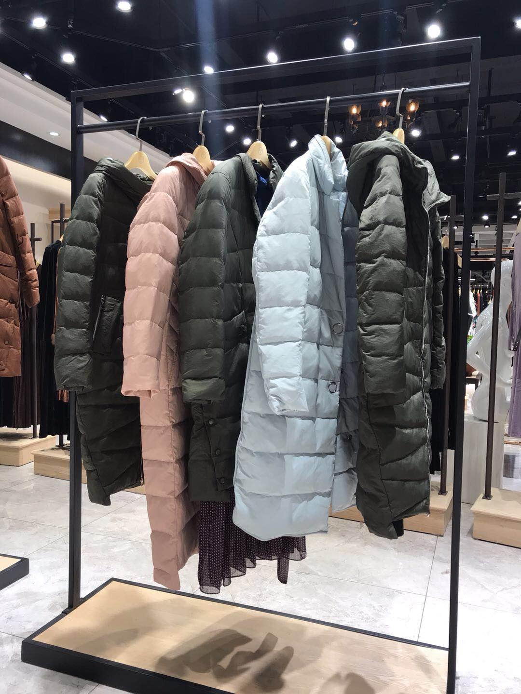 拉素品牌折扣女装羽绒服尾货货源批发