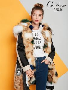 2018卡地亚中高端女装时髦羽绒服