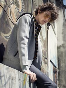 ZUO男装新款灰色外套
