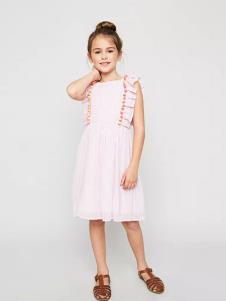 惠衣登童装粉色 时尚女裙