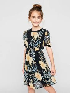 惠衣登童装印花时尚女裙