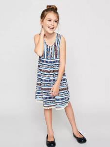 惠衣登童装条纹时尚女裙