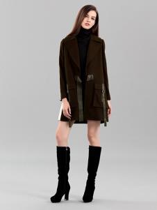彌妖女裝棕色時尚大衣