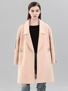 彌妖女裝淺色時尚寬松大衣