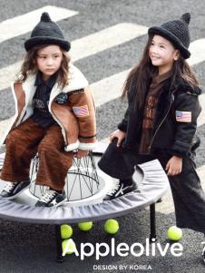 Apple Orange童装女童韩版羽绒服