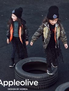 Apple Orange童装女童时尚羽绒服