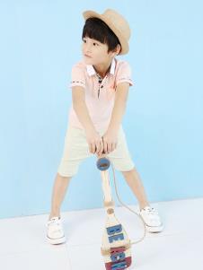 哈哈兽童装粉色时尚衬衫