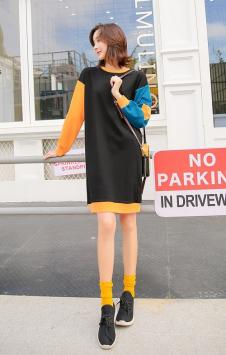 蓓伊诗女装黑色时尚连衣裙