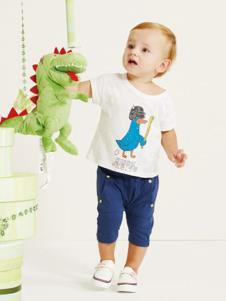 婴奈儿童装白色休闲T恤