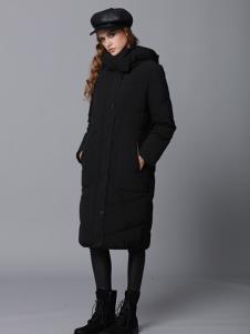 玛丁格拉丽斯女装黑色长款棉衣