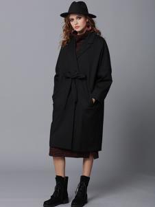 玛丁格拉丽斯女装黑色蝴蝶结棉衣