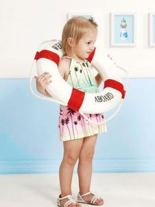 婴奈儿童装时尚渐变女裙