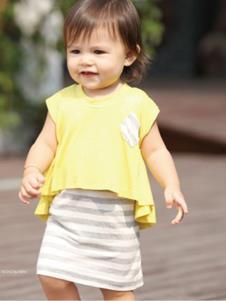 婴奈儿童装时尚假两件女裙