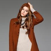 今年冬天来件Member union(曼柏优妮)的焦糖色大衣,美极了!