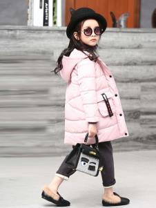 温琪可可童装粉色时尚棉衣