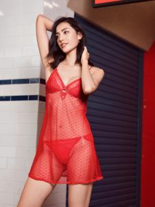 布迪设计内衣红色套装系列