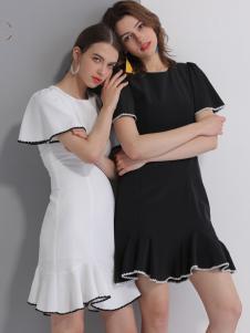 艾丽哲春夏新款黑白色闺蜜套裙