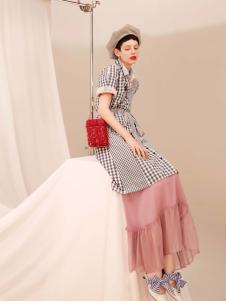 2019Jumel芮玛女装条纹连衣裙