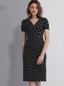艾丽哲女装春夏新款修身连衣裙