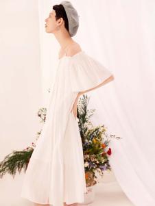 2019Jumel芮玛女装白色连衣裙