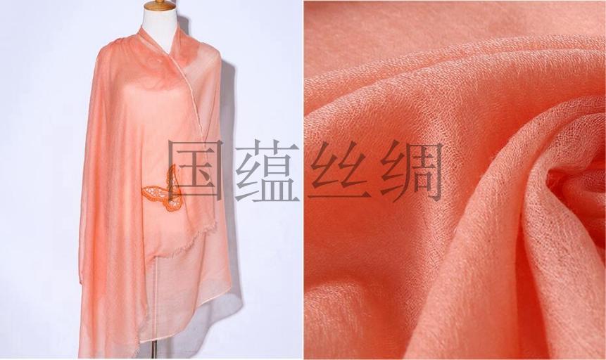 羊绒围巾一手货源,山东国蕴丝绸