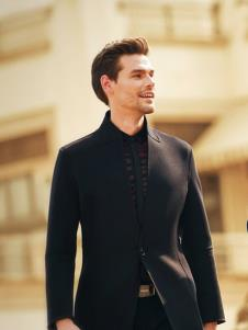 克拉格曼男装黑色商务西装