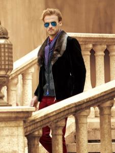 克拉格曼男装黑色时尚大衣