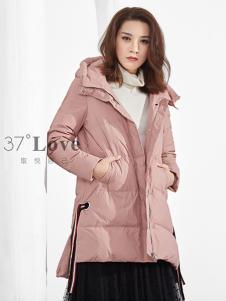 37°love女装18粉色羽绒服