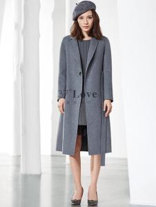 37°love女装18长款大衣